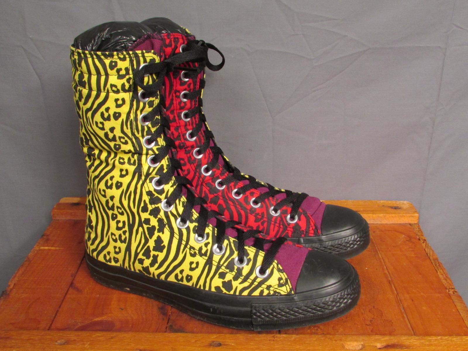 Vintage Converse All Star Tall Chuck Chuck Chuck Taylor Sneakers Sz.7 Atomic Animal Print d8b7cf