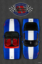 TWO 1996 Grand Sport Corvette 20th Anniversary Art Print Posters - FREE Shipping