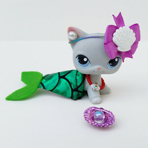 Littlest Pet Shop LPS Inspired Little Mermaid Ariel Accessory (CAT NOT INCLUDED)