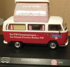 RARE-SCHUCO-VW-T2-a-VAN-WESTFALIA-TECHNO-CLASSICA-2010-1-43-NEW-BOXED-1-OF-200