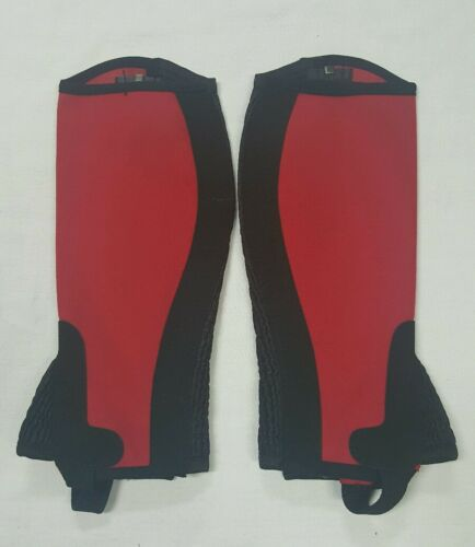 New Horse riding Amara Chaps Red and Black Size 14 Years