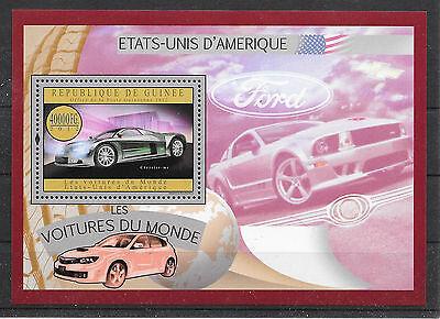 Verkehr & Transport Motive Autos/ Guinea Minr Block 2167 ** SorgfäLtige FäRbeprozesse