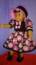 "For 18"" American Girl Doll Handmade Doll Clothes Cats on the run Dress Set"