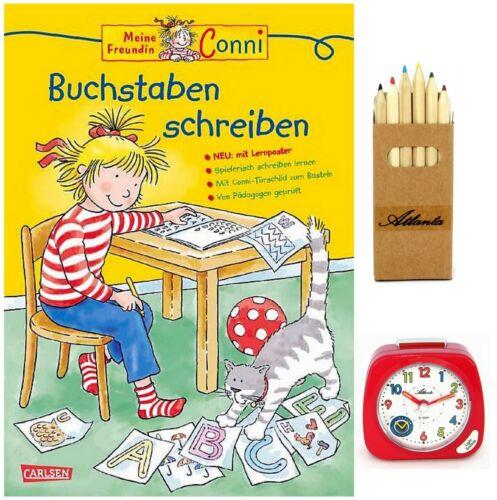 Buntstifte 1936//1 BSBS Kinderwecker ohne Ticken Mädchen Rot Lernbuch CONNI