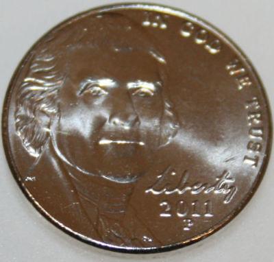1991  P /& D Jefferson Nickels BU Pulled From OBWRoll