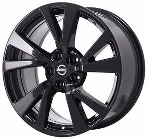 18 Fits Nissan Maxima Platinum Black Wheel Rim Factory Oem 2016