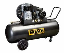 Compressore 3Hp 200 lt litri bicilindrico a cinghia Nuair - Made in Italy
