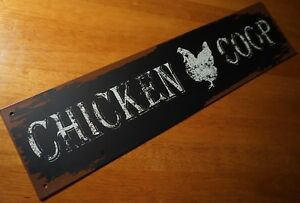 Rustic-Metal-Chicken-Coop-Sign-Country-Primitive-Kitchen-Farm-Barn-Home-Decor