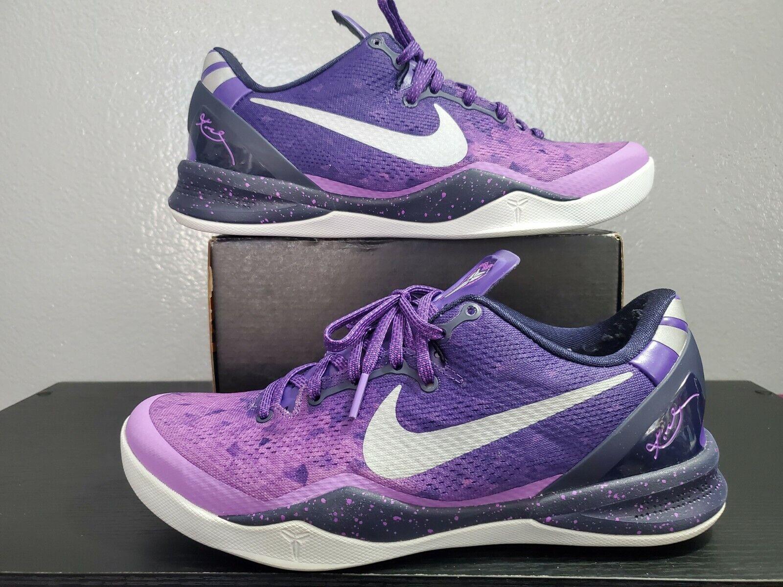 nike kobe 8 system 555035 500 sz 9.5 purple fade gradient playoff