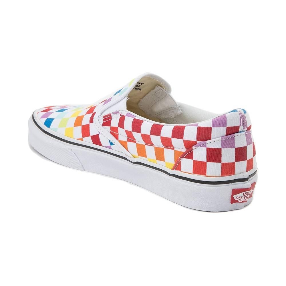 NEW Vans Slip On Rainbow Chex Skate Shoe Multi Checker