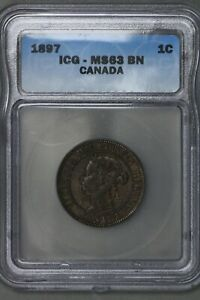 Canada 1897 1 Cent ICG MS 63 BN   S378
