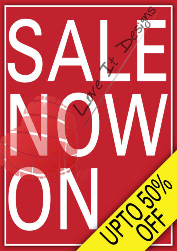 GLOSS POSTER SALES A2 A1 A0 SALE POSTERS ADVERTISING SIGNS