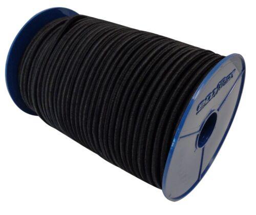 20m 8mm Expanderseil Gummiseil Schwarz Leine Planenseil Gummischnur Gummikordel