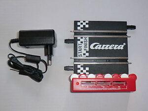 Carrera-42001-Go-Digital-143-Startschiene-Anschlussschiene-mit-Trafo-Neu