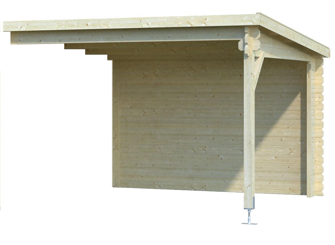 28 mm gartenhaus mit anbau ger tehaus blockhaus holzhaus schleppdach pultdach ebay. Black Bedroom Furniture Sets. Home Design Ideas