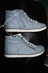 Justice Shoes Quilted High Top Sneaker Big Girls Size 10