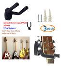 PACK of 3 Guitar Hangers Hook Holder Wall Mount Hanger with Screws GRAK1-Q3