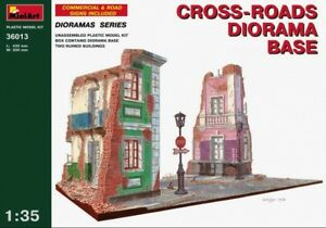 Miniart-1-3-5-Cross-Roads-Diorama-Kit-Modello