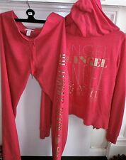 Victoria's Secret Supermodel Essentials PINK GOLD ANGEL Tracksuit Lounge Set XS