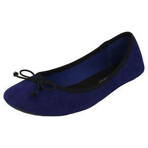f8855-Donna-Spot-On-blu-reale-Ballerina-stile-SCARPE-OTTIMO-PREZZO