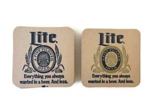 Vintage-Miller-Light-Coasters-41-Total-Paper-Cardboard-Vintage-Bar-Ware
