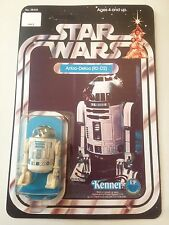 VINTAGE STAR WARS R2-D2 figura 12back KENNER 1977 soliddome KENNER MINT RECARD