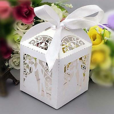 Rare Laser Cut Wedding Engagement Party Cake Sweet Favour Gift Boxes L