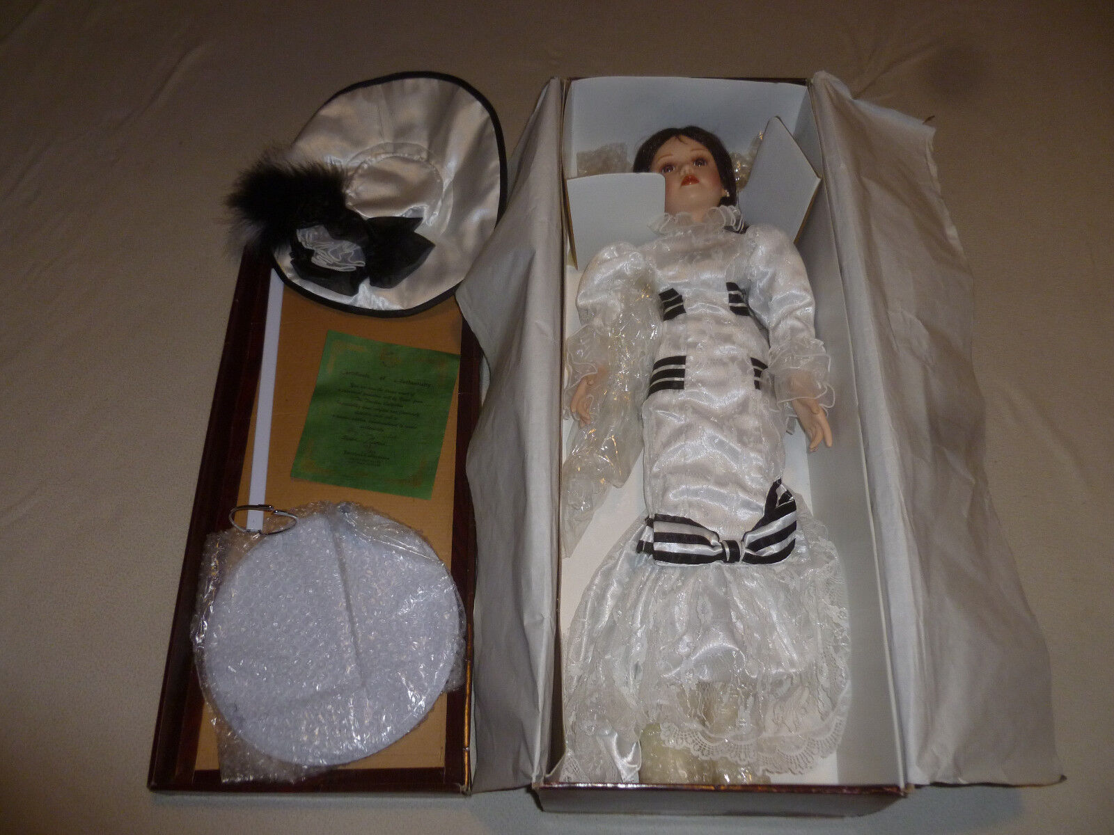 BOXED TIMELESS BY NANCI COLLECTION ELIZA PORCELAIN DOLL LIMITED EDITION COA