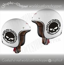 ADESIVO DECAL STICKERS SKULL REPLICA HARLEY DAVIDSON CASCO MOTO CUSTOM BANDIT