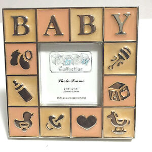 Silver Plated Baby Picture Frame Baby Shower Favor Newborn