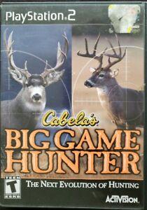 Cabela-039-s-Big-Game-Hunter-Sony-PlayStation-2-2002-PS2-Black-Label-Tested-GC