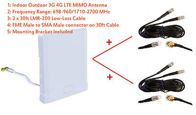 NETGEAR AirCard 340U 4G LTE Mobile Internet KeyTelus antenna adapter dual port