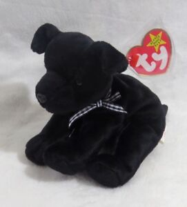 MWMT Dog Black Lab 1998 Ty Beanie Baby Luke