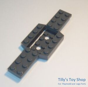 One Dark Stone Grey Vehicle Chassis Base 4x12 4x2 Recess ID 52036 Lego NEW