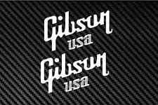 """GIBSON USA 2X 6"""" guitar vinyl Decal sticker Car Truck Guitar Laptop"""