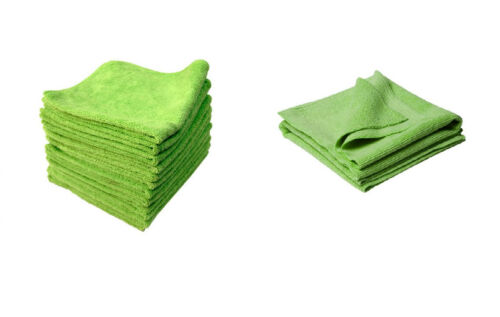 CAR CLEANING DETAILING WASHING MICROFIBRE MICROFIBER CLOTH TOWEL GREEN PACK X50