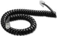 Lot 10 Panasonic 9' Ft Black Phone Handset Coil Curly Cords Dbs Kx-t Series