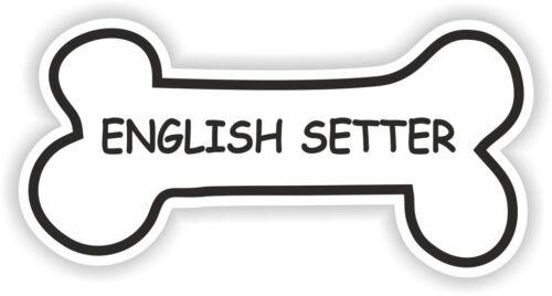 ENGLISH SETTER BONE STICKER BREED NAME DOG FOOD BOWL PUPPY PET VINYL DECAL