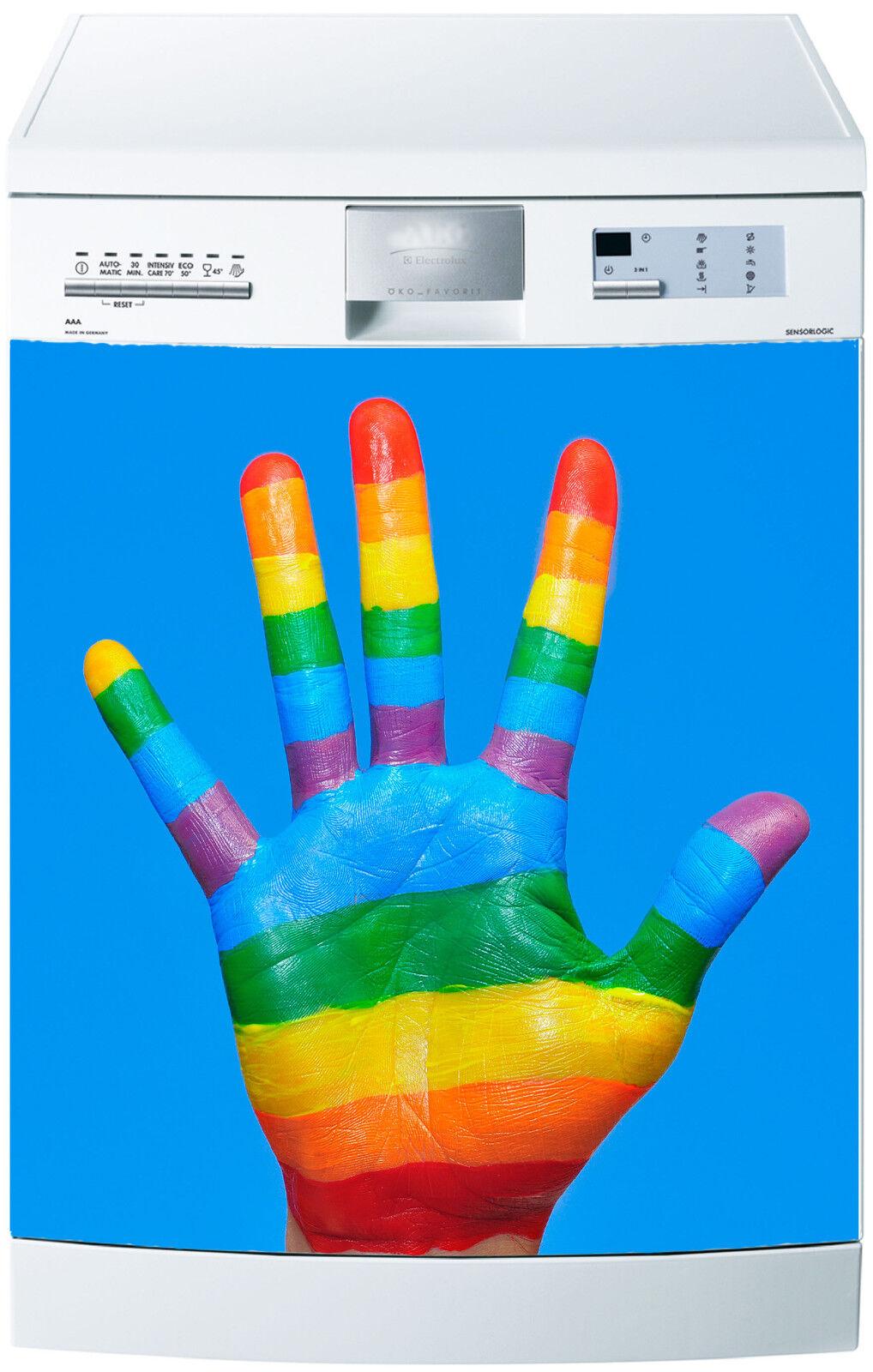 Adesivo Lavastoviglie Decocrazione Cucina Elettrodomestici Mano color Ref 571