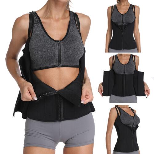 UK Sweat Hot Sauna Vest Body Shaper Weight Loss Tank Top Slimming Cincher
