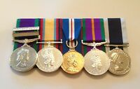 GSM, Iraq Gulf War, Golden Jubilee, ACSM, Navy LSGC Full Size Mounted Medals