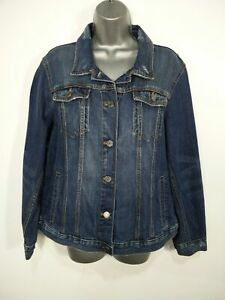 BNWT WOMENS BANANA REPUBLIC SIZE XL BLUE DISTRESSED DENIM BUTTON JACKET RRP £65