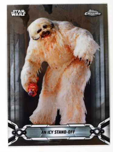 2019 Topps Chrome Star Wars Base #102 An Icy Stand-off