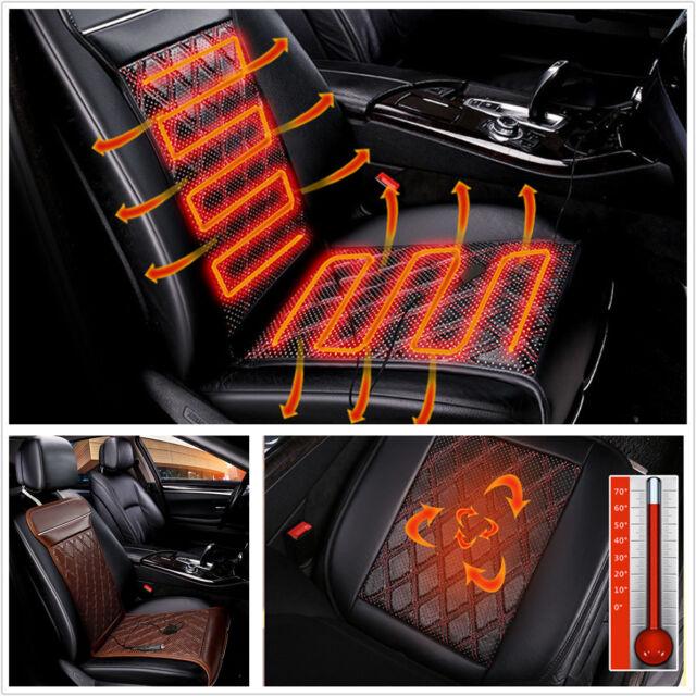 12V Carbon Fiber Car Seat Heater Chair Cushion Warmer Electric Heating Cover Pad