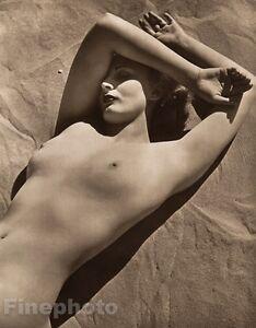 1940 Vintage FEMALE NUDE Woman Breasts England Beach Photo Art Deco JOHN EVERARD