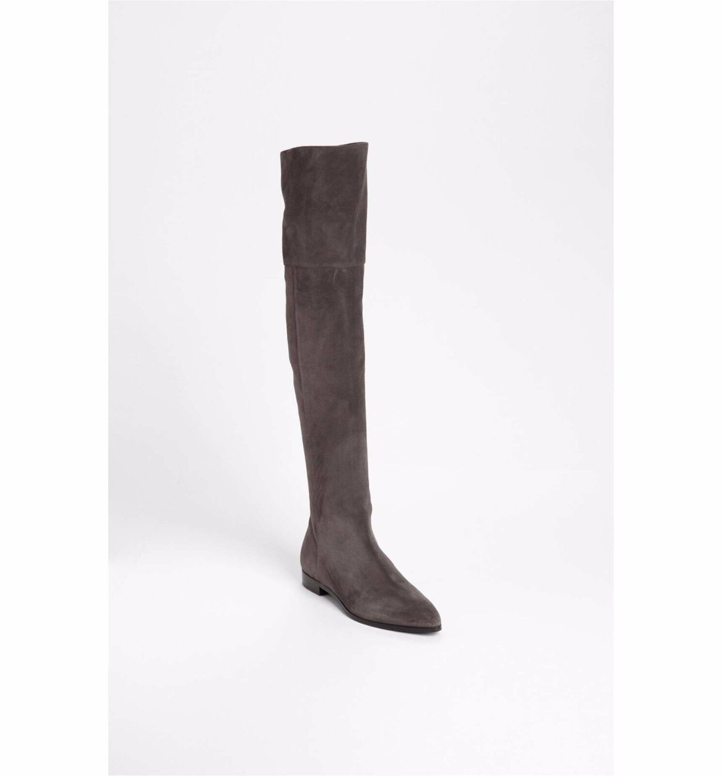 1750.00 Prada Over the Knee Boot sz  EU 39.5    US 9.5 in brown suede