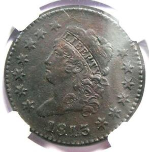 1813 Classic Liberty Head Large Cent 1C - NGC AU Detail -  Rare Date Coin in AU!