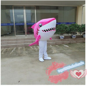Pink Shark Mascot Costume Adult Size Fancy Dress Cosplay For Festival Advertisin Ebay