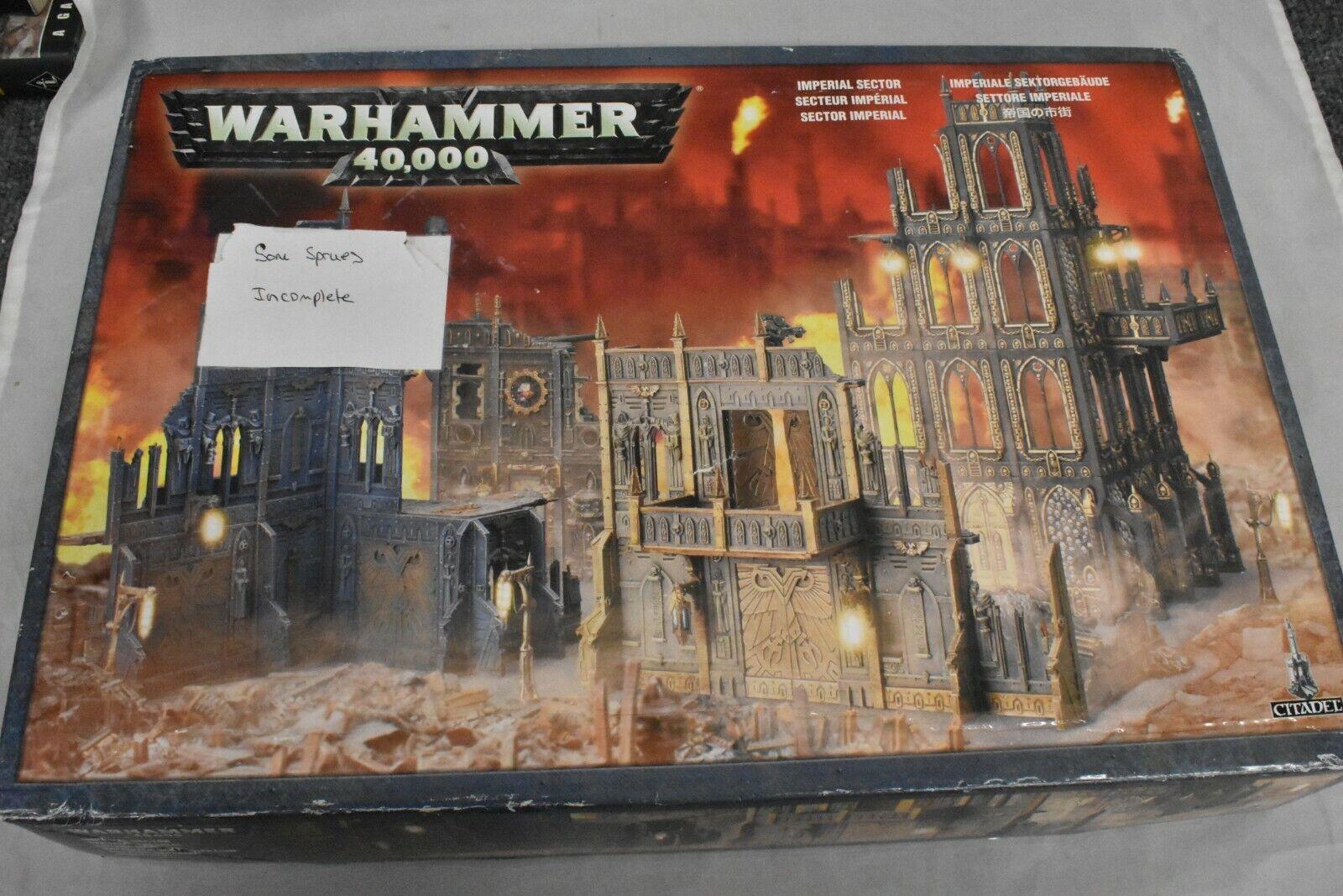 Imperial Sector Scenery Terrain oop  Warhammer 40K giocos lavoronegozio AIKF  prezzi più bassi