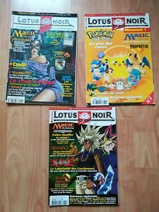 3 anciens Magazines Lotus Noir Magic The Gathering L'assemblée 97 00 04